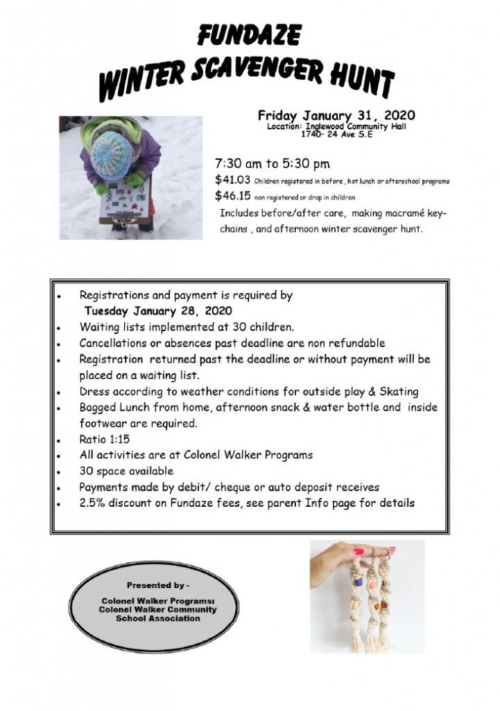 Fundaze- Winter Scavenger Hunt
